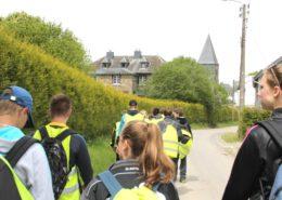 Hike tijdens een schoolkamp in de Ardennen