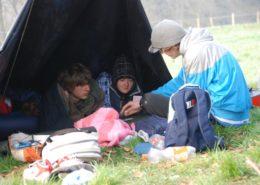Hike tocht tijdens een schoolkamp in de Ardennen