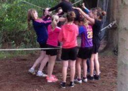 Swing-over tijdens een training en teambuilding in de Ardennen