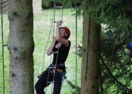 Activiteit Rope Course tijdens een bedrijfsuitje in de Ardennen