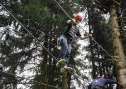 Rope Course tijdens een bedrijfsuitje in de Ardennen