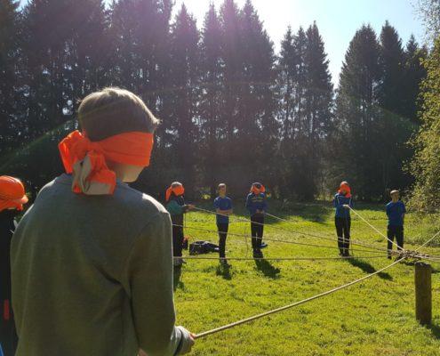 Game tijdens een schoolkamp in de Ardennen