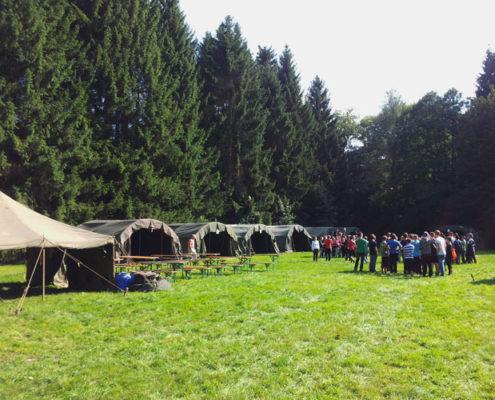 Uitvalsbasis tijdens een schoolkamp in de Ardennen