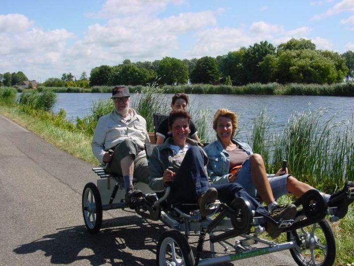 Familiefiets tijdens een familiedag in Gelderland