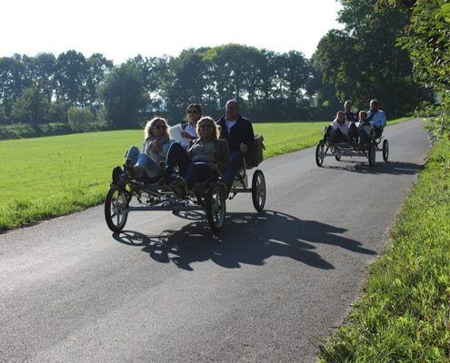 Familiefiets bij een uitje in Gelderland