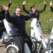 Elektrische scooter als keuzeactiviteit tijdens een bedrijfsuitje in Gelderland