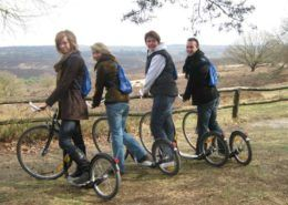 Kick bike activiteit in de Zuid-Veluwe