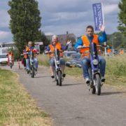 Elektrische scootertocht tijdens een uitje in Gelderland