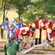 Teambuilding activiteit eilanden oversteek in Gelderland