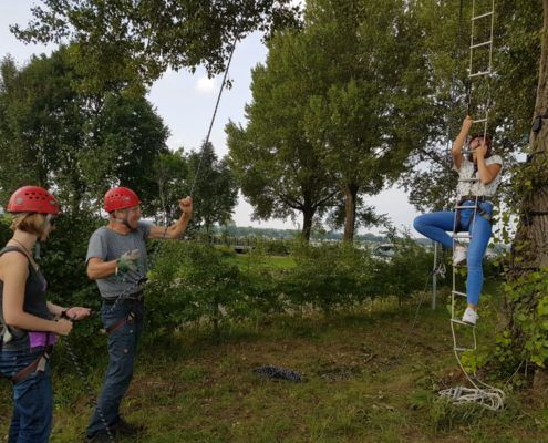 Monkey Tree Touwladder tijdens een uitje in Gelderland